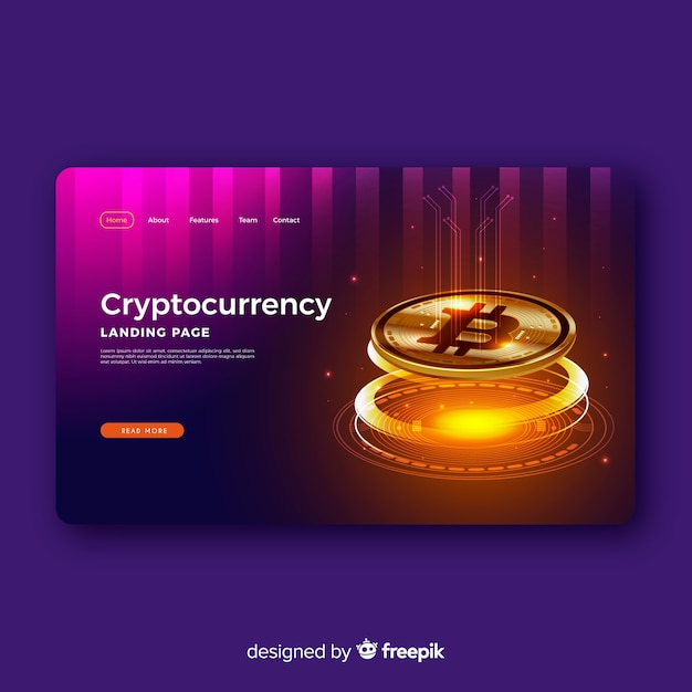 Cryptocurrency-bestemmingspagina Gratis Vector