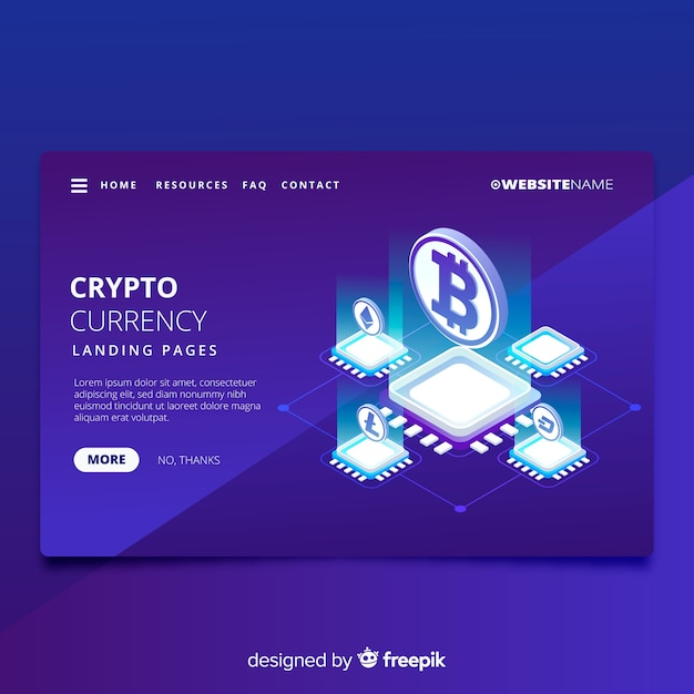 Cryptocurrency-bestemmingspagina Gratis Vector