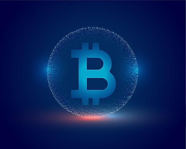 Cryptocurrency concept bitcoin technische achtergrond Gratis Vector