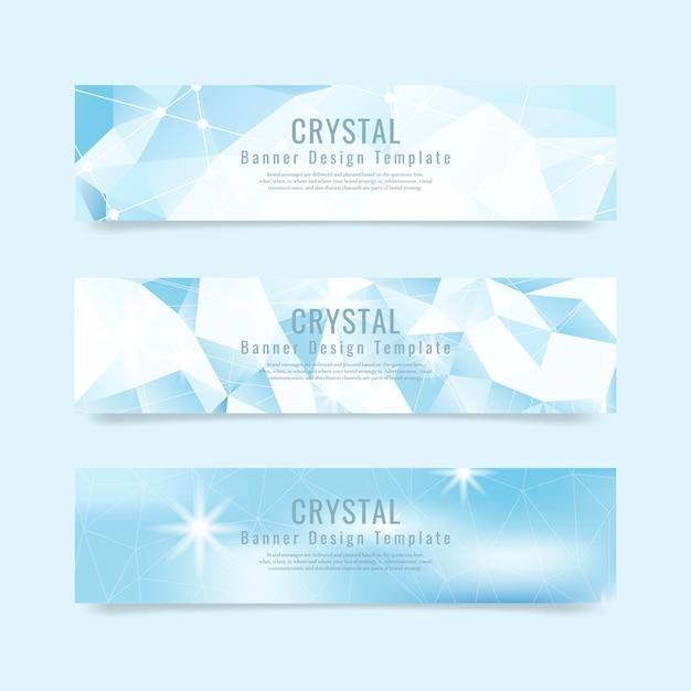 Crystal gestructureerde achtergrond collectie Gratis Vector