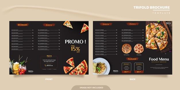 Culinair driebladig brochureontwerp Premium Vector