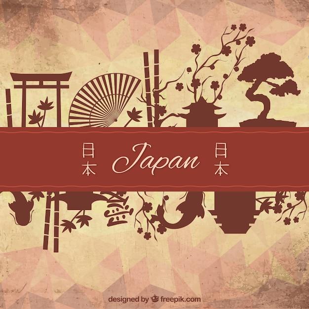 Culturele elementen van japan Gratis Vector