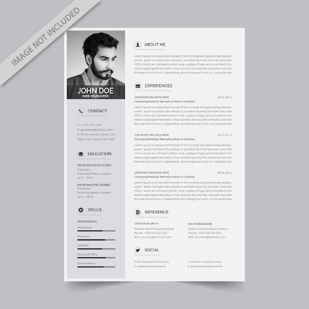 Curriculum vitae-ontwerp Premium Vector