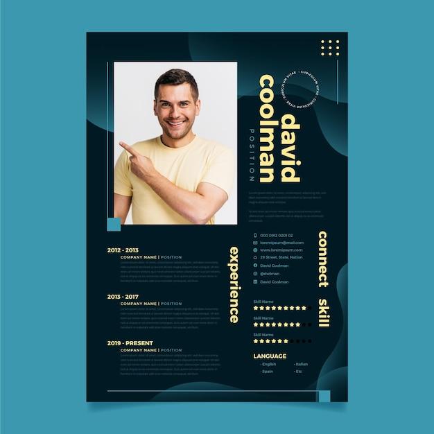 Curriculum vitae redactionele sjabloon Premium Vector