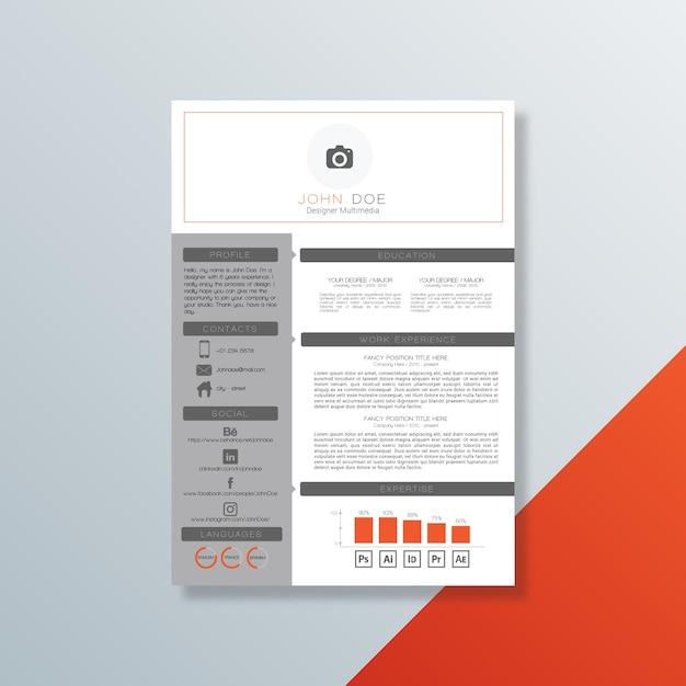 Curriculum vitae-sjabloon Premium Vector