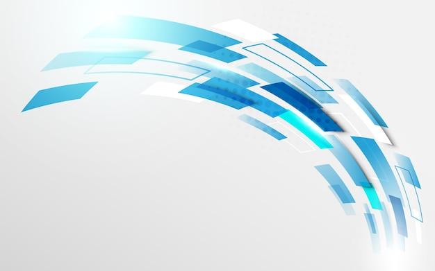 Curve beweging technologie digitale hi-tech concept achtergrond Premium Vector