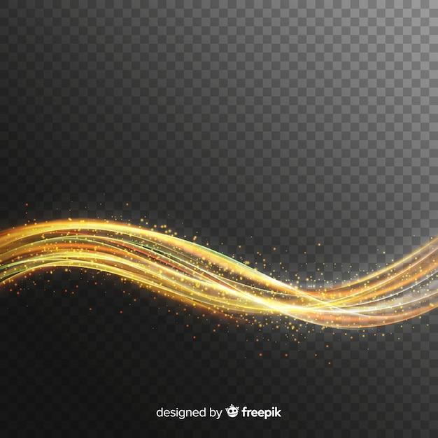 Curve lichteffect realistische stijl Gratis Vector