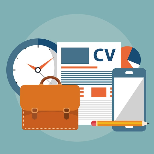 cv zoeken CV, banen zoeken items | Vector | Premium Download