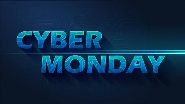 Cyber maandag achtergrond Premium Vector