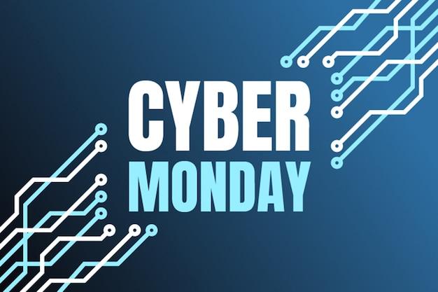 Cyber maandag banner Premium Vector