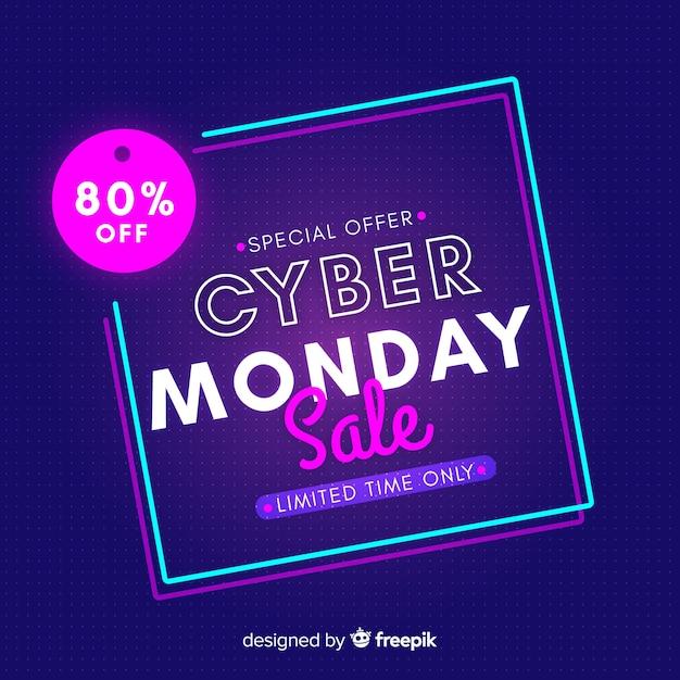 Cyber maandag concept beperkte tijd Gratis Vector