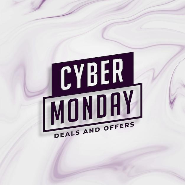 Cyber maandag elegante deals en bieden bannerontwerp Gratis Vector