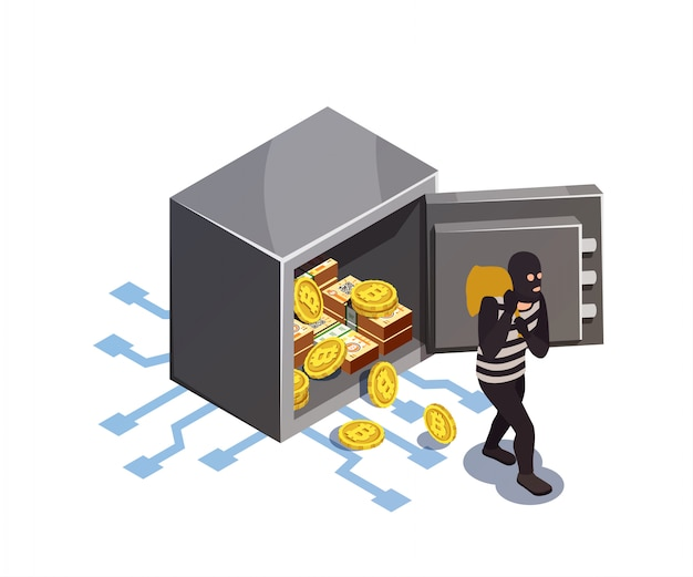 Cyber rip-job Gratis Vector