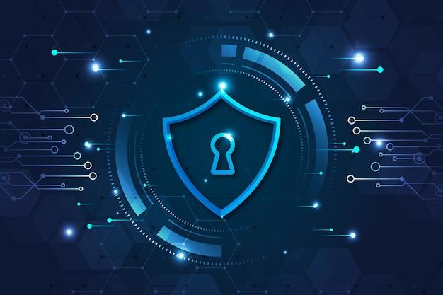 Cyber veiligheidsconcept Premium Vector