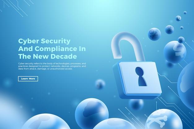 Cyber veiligheidsconcept Gratis Vector