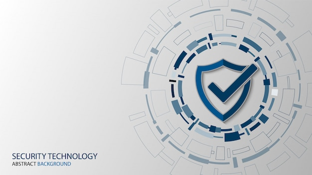 Cybertechnologiebeveiliging, achtergrondontwerp van netwerkbeveiliging Premium Vector