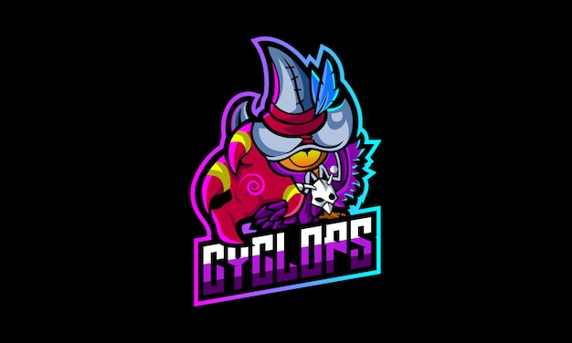 Cyclops hero esports-logo Premium Vector
