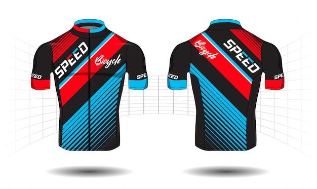 Cyclus jersey.sport slijtage bescherming apparatuur vector Premium Vector