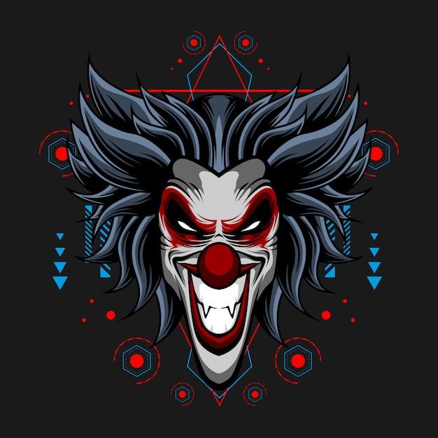 Cynische clown Premium Vector