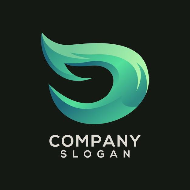 D logo Premium Vector
