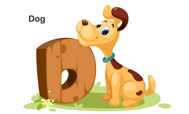 D voor hond Premium Vector