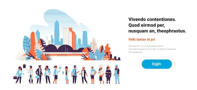 Dag van de arbeid concept met mensen Premium Vector