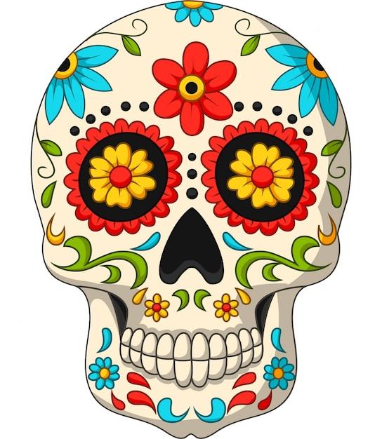 Dag van de dode schedels Premium Vector