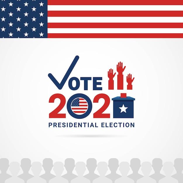 Dag van de presidentsverkiezingen 2020 verenigde staten van amerika Premium Vector