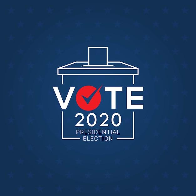 Dag van de presidentsverkiezingen 2020 Premium Vector