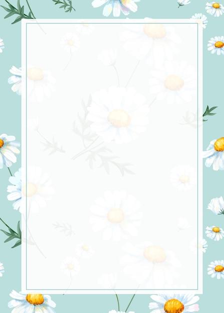 Daisy achtergrondframe Gratis Vector