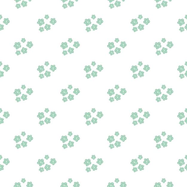 Daisy veld. de eenvoudige kamille bloeit naadloos patroon. Premium Vector