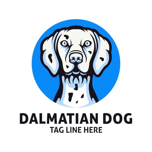 Dalmatische hond logo vector ontwerpsjabloon Premium Vector
