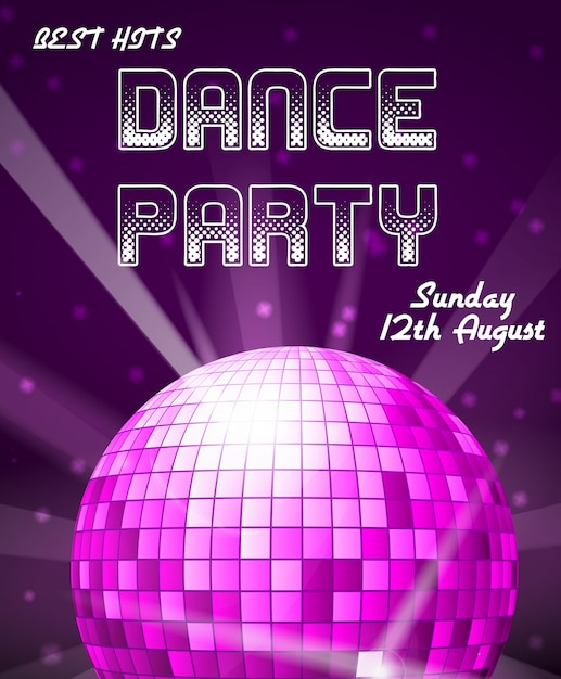 Dance disco party uitnodiging Premium Vector