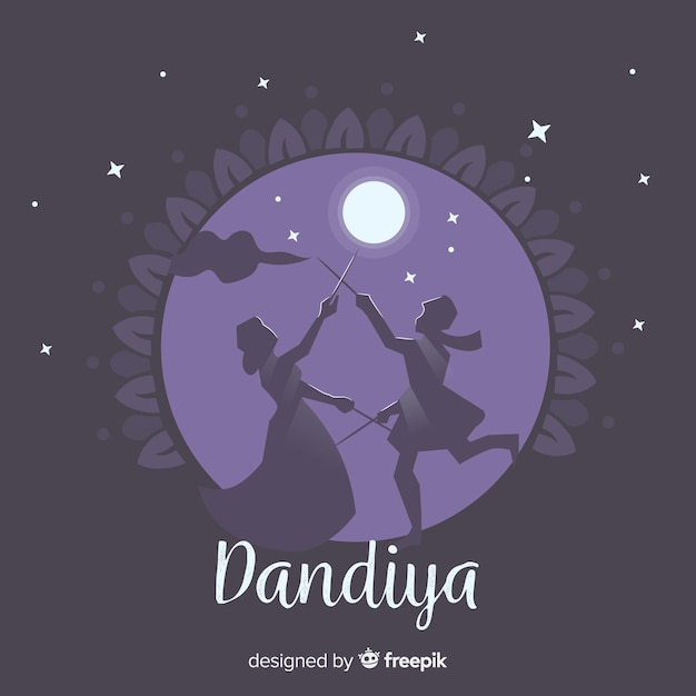 Dandiya achtergrond Gratis Vector