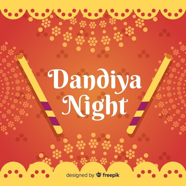Dandiya nachtbanner Gratis Vector