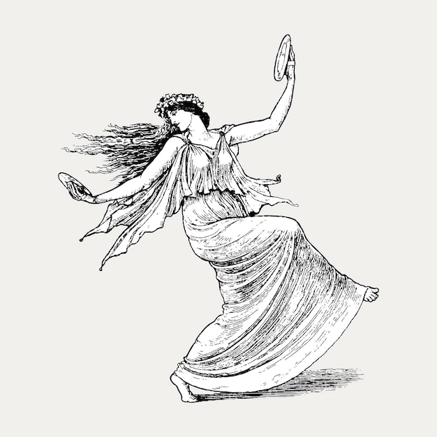 Dansende nimf Gratis Vector