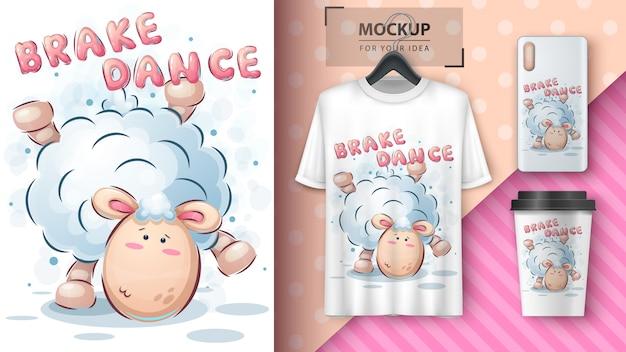 Danslam - poster en merchandising Gratis Vector