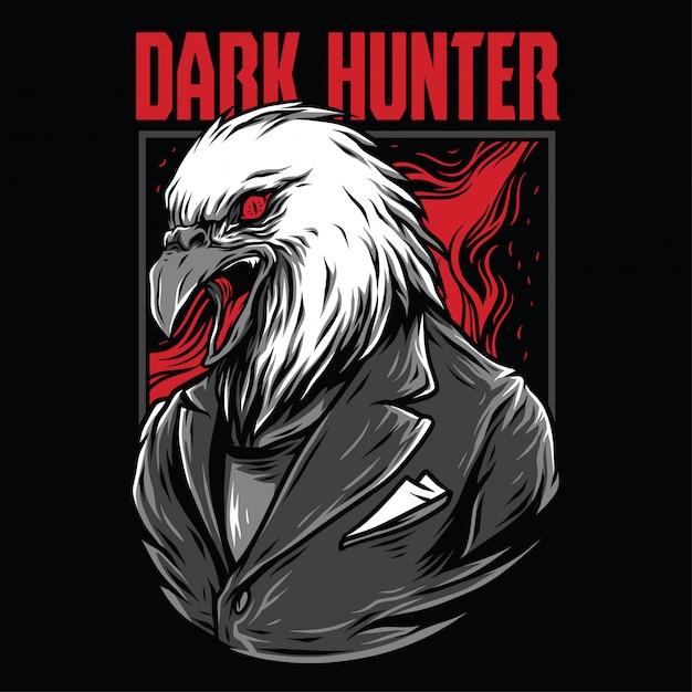 Dark hunter illustratie Premium Vector