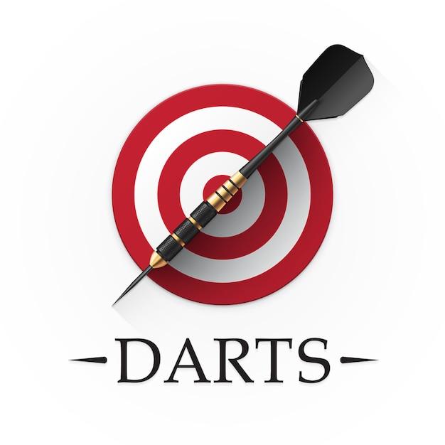 Darts game embleem Premium Vector