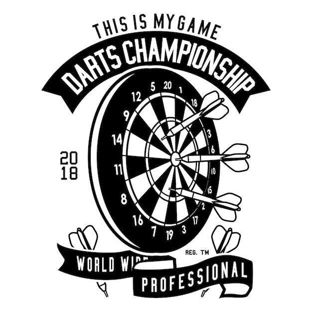 Dartskampioenschap Premium Vector