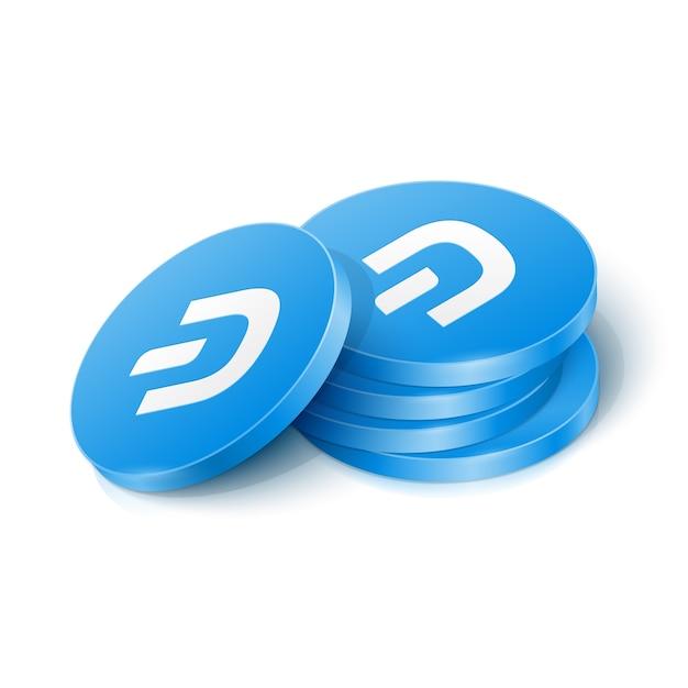 Dash cryptocurrency-tokens Premium Vector