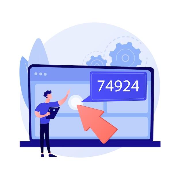 Data monetization abstract concept vectorillustratie. bedrijfsstrategie voor gegevens, het genereren van inkomsten met informatie, het genereren van inkomsten met datadiensten, verkoopdatabase, bron en analyse abstracte metafoor. Gratis Vector