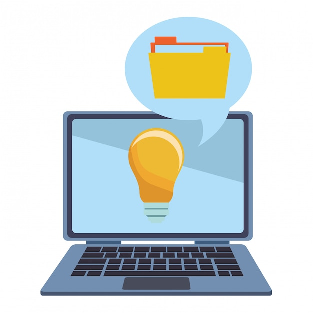 Database en documenten Premium Vector
