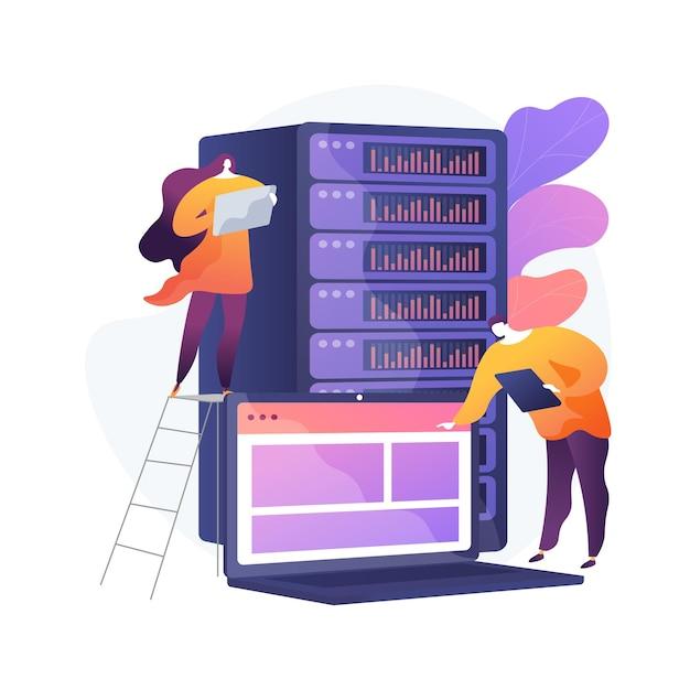 Datacenter abstracte concept illustratie Gratis Vector