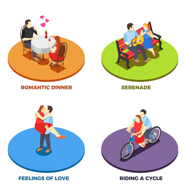 Dating concept Gratis Vector
