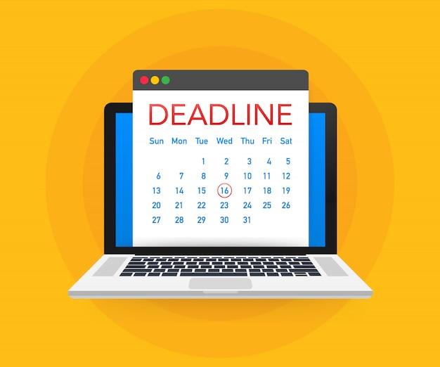 Datums en deadlines Premium Vector