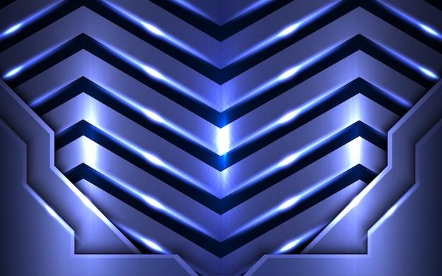 De abstracte blauwe achtergrond combineert met lichteffect. Premium Vector