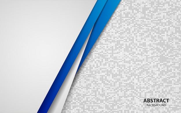 De abstracte blauwe en witte achtergrond van overlappingslagen Premium Vector