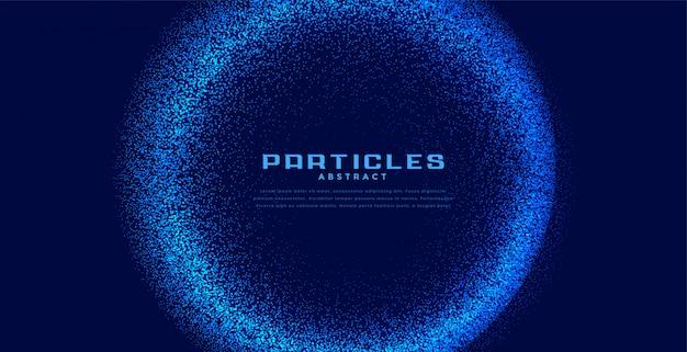 De abstracte cirkel blauwe achtergrond van technodeeltjes Gratis Vector
