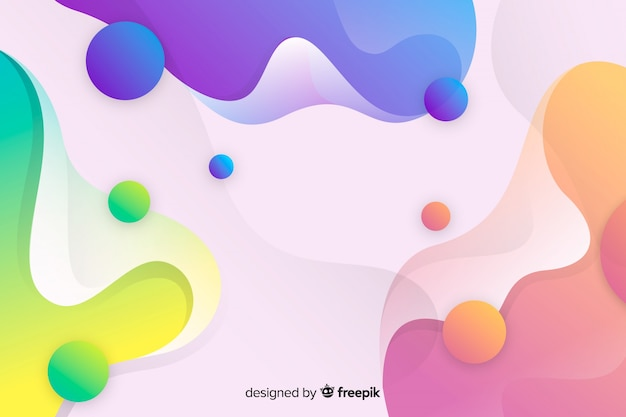 De abstracte kleurrijke stroom vormt achtergrond Gratis Vector